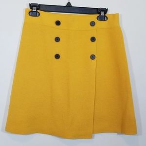 Loft Yellow Mustard Mini Skirt